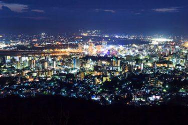 岩手県盛岡市 岩山展望台からの夜景