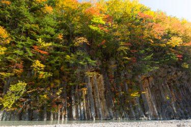 八幡平市・松川渓谷 玄武岩の紅葉